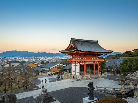 Pohľad na japonské mesto Kjóto